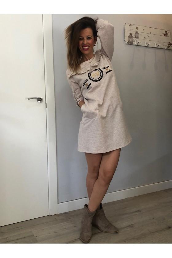 Vestido Felpa